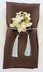 "20""x20"" Satin Napkins - Chocolate 71891 (10pcs/pk)"