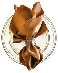 "20""x20"" Satin Napkins - Copper 71841 (10pcs/pk)"