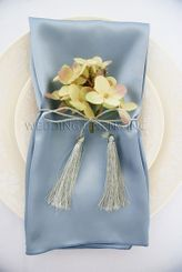 "20""x20"" Satin Napkins - Dusty Blue 71803 (10pcs/pk)"