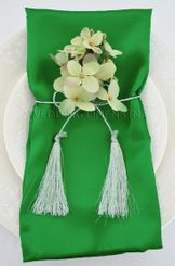 "20""x20"" Satin Napkins - Emerald Green 71838 (10pcs/pk)"
