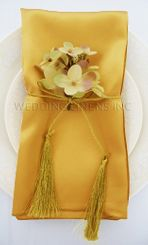 "20""x20"" Satin Napkins - Gold 71827 (10pcs/pk)"