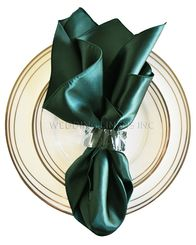 "20""x20"" Satin Napkins - Holly Green / Hunter Green 71819 (10pcs/pk)"