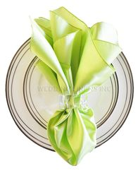 "20""x20"" Satin Napkins - Key Lime 71849 (10pcs/pk)"