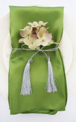 "20""x20"" Satin Napkins - Moss Green 71817 (10pcs/pk)"