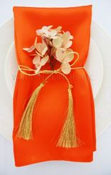 "20""x20"" Satin Napkins - Orange 71833 (10pcs/pk)"
