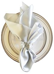 "20""x20"" Satin Napkins - Platinum 71850 (10pcs/pk)"