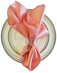 "20""x20"" Satin Napkins - Rose Pink 71807 (10pcs/pk)"