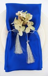 "20""x20"" Satin Napkins - Royal Blue 71822 (10pcs/pk)"