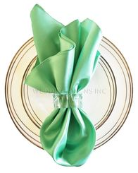 "20""x20"" Satin Napkins - Sage Green 71830 (10pcs/pk)"
