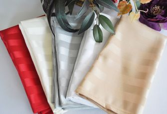"20""x20"" Striped Jacquard Polyester Napkins (7 colors)"