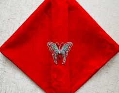 "20""x20"" Versailles Chopin Jacquard Polyester Napkin- Red 92012 (1pc)"