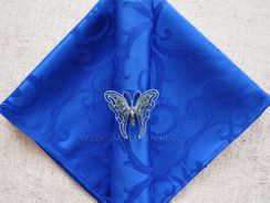 "20""x20"" Versailles Chopin Jacquard Polyester Napkin- Royal blue 92022 (1pc)"