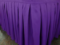 "21'x29"" Accordion Pleat Polyester Table Skirts - Regency 72363 (1pc/pk)"