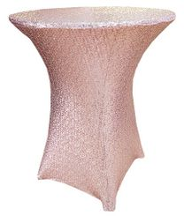 "30"" Cocktail Sequin Spandex Table Cover - Blush Pink 00715 (1pc/pk)"