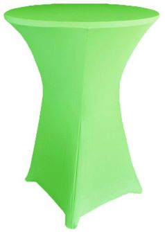 """30"""" Cocktail Spandex Table Cover - Apple Green 64637 (1pc/pk)"""
