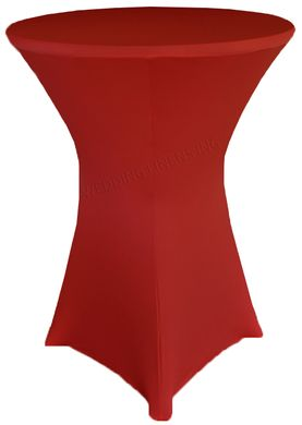 "30"" Cocktail Spandex Table Cover - Apple Red 64608 (1pc/pk)"