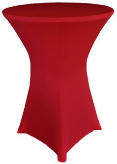 """30"""" Cocktail Spandex Table Cover - Apple Red 64608 (1pc/pk)"""