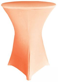 "30"" Cocktail Spandex Table Cover - Apricot/Peach 64631 (1pc/pk)"