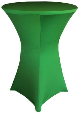 "30"" Cocktail Spandex Table Cover - Emerald 64638 (1pc/pk)"