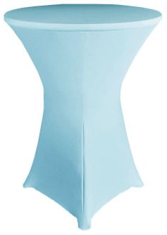 "30"" Cocktail Spandex Table Cover - Baby Blue 64620 (1pc/pk)"