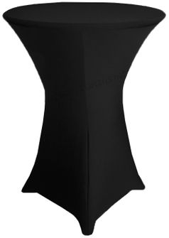 "30"" Cocktail Spandex Table Cover - Black 64639 (1pc/pk)"