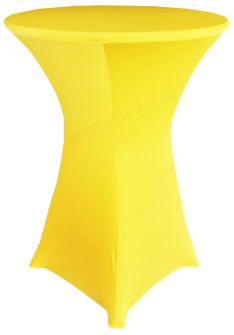 "30"" Cocktail Spandex Table Cover - Canary Yellow 64616 (1pc/pk)"