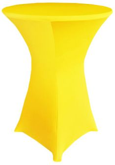 """30"""" Cocktail Spandex Table Cover - Canary Yellow 64616 (1pc/pk)"""