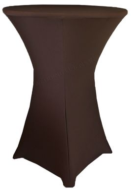 """30"""" Cocktail Spandex Table Cover - Chocolate 64691 (1pc/pk)"""