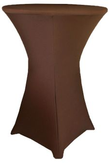 "30"" Cocktail Spandex Table Cover - Chocolate 64691 (1pc/pk)"