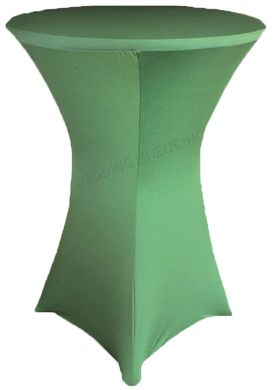 """30"""" Cocktail Spandex Table Cover - Clover 64648 (1pc/pk)"""