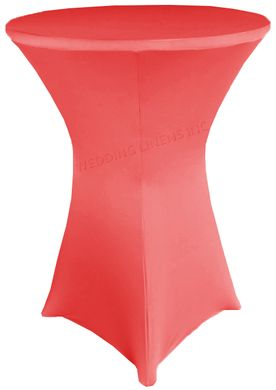 "30"" Cocktail Spandex Table Cover - Coral 64606 (1pc/pk)"