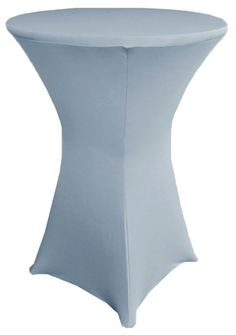 "30"" Cocktail Spandex Table Cover - Dusty Blue 64603 (1pc/pk)"