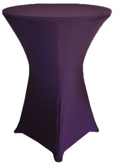 "30"" Cocktail Spandex Table Cover - Eggplant 64645 (1pc/pk)"