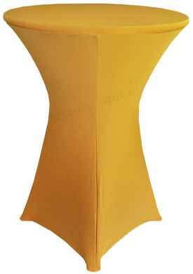 """30"""" Cocktail Spandex Table Cover - Gold 64627 (1pc/pk)"""