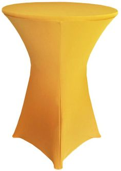 "30"" Cocktail Spandex Table Cover - Gold 64627 (1pc/pk)"