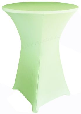 """30"""" Cocktail Spandex Table Cover - Mint 64634 (1pc/pk)"""