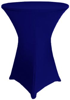 "30"" Cocktail Spandex Table Cover - Navy Blue 64623 (1pc/pk)"