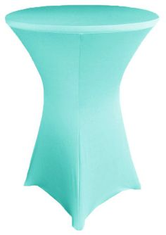"""30"""" Cocktail Spandex Table Cover - Pool Blue 64678 (1pc/pk)"""