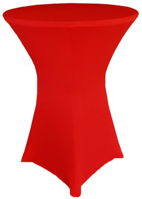 """30"""" Cocktail Spandex Table Cover - Red 64612 (1pc/pk)"""