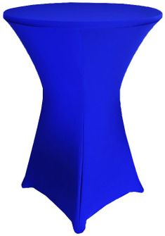 "30"" Cocktail Spandex Table Cover - Royal Blue 64622 (1pc/pk)"