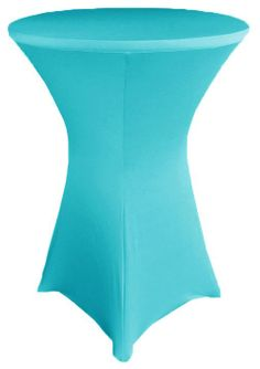 """30"""" Cocktail Spandex Table Cover - Turquoise 64685 (1pc/pk)"""