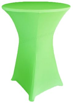 """36"""" Cocktail Spandex Table Cover - Apple Green 64737 (1pc/pk)"""