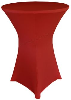 "36"" Cocktail Spandex Table Cover - Apple Red 64708 (1pc/pk)"