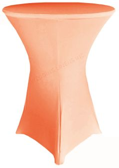 """36"""" Cocktail Spandex Table Cover - Apricot/ Peach 64731 (1pc/pk)"""