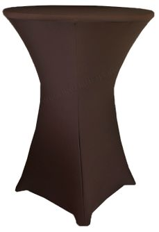 """36"""" Cocktail Spandex Table Cover - Chocolate 64791 (1pc/pk)"""