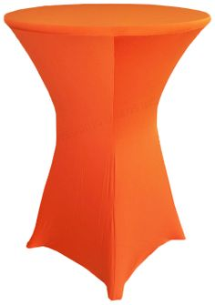 "36"" Cocktail Spandex Table Cover - Orange 64733 (1pc/pk)"