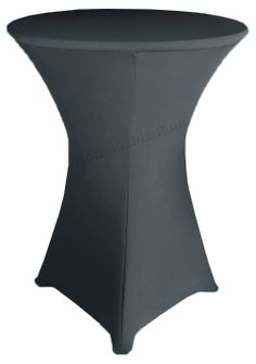 """36"""" Cocktail Spandex Table Cover - Pewter 64760 (1pc/pk)"""