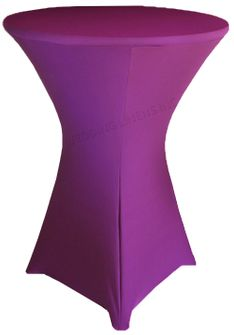 "36"" Cocktail Spandex Table Cover - Purple 64743 (1pc/pk)"