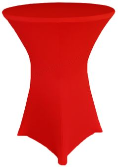 """36"""" Cocktail Spandex Table Cover - Red 64712 (1pc/pk)"""