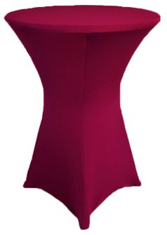 "36"" Cocktail Spandex Table Cover - Sangria 64766 (1pc/pk)"